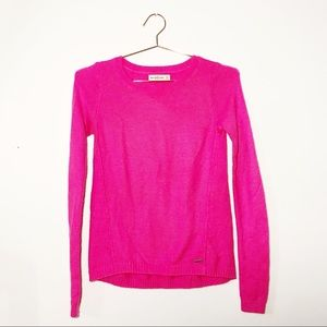 Abercrombie Neon Pink High-Low Sweater